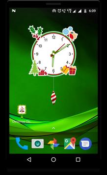 Christmas clock live wallpaper screenshot 3