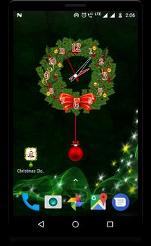 Christmas clock live wallpaper screenshot 4
