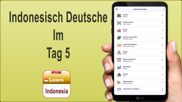 Indonesisch Deutsche poster