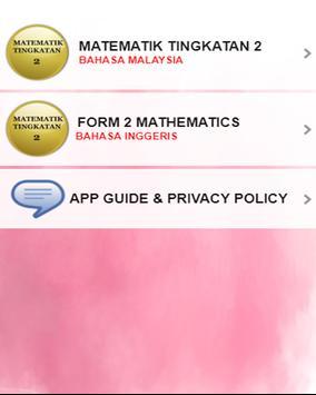 Matematik Tingkatan 2 poster