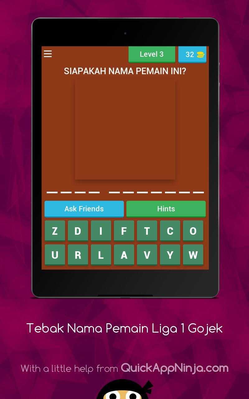 Tebak Pemain Bola Liga 1 Gojek 2019 For Android APK Download