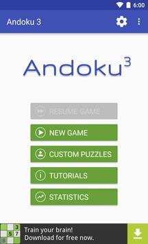 Andoku Sudoku 3 الملصق