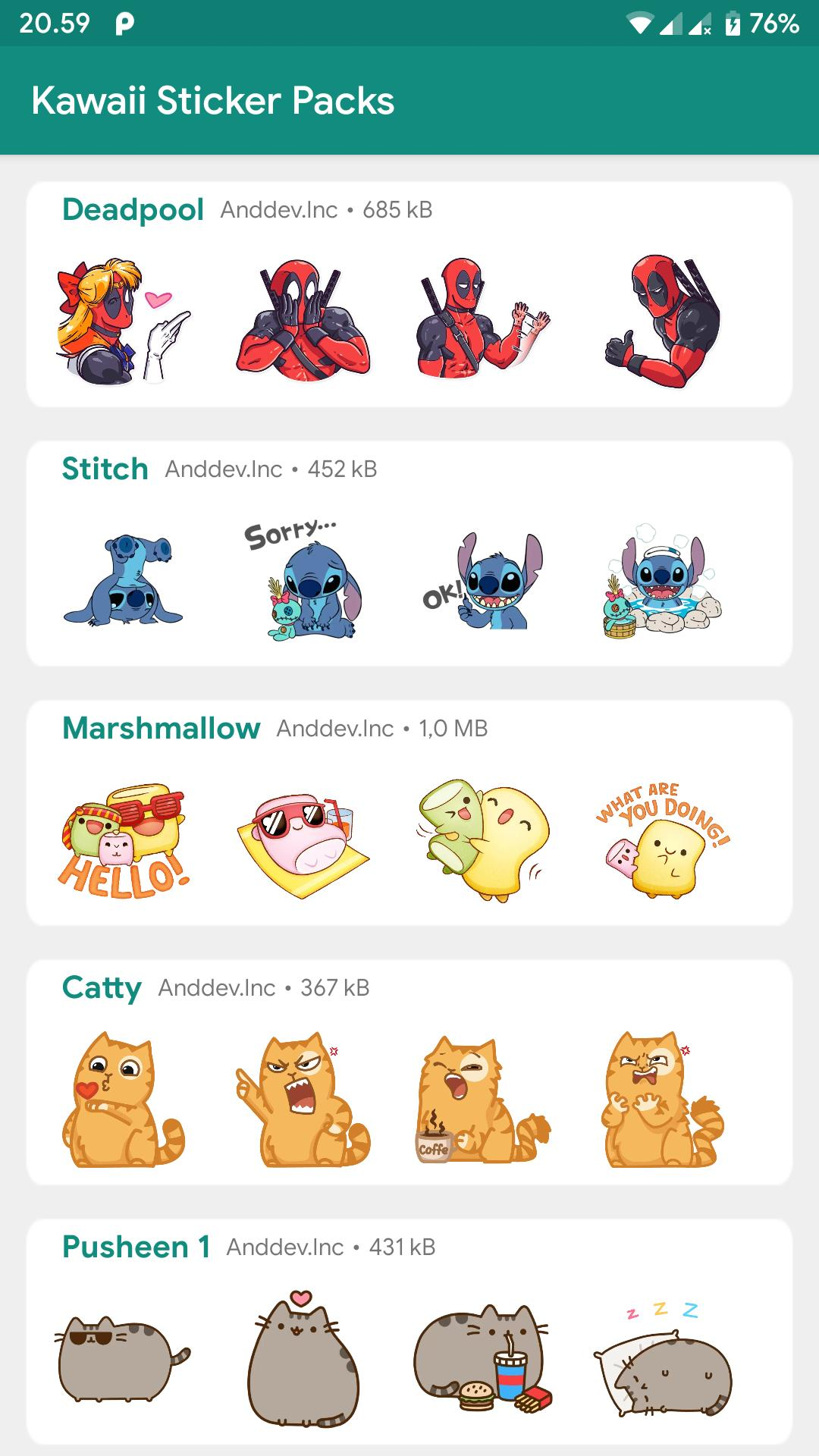 Kawaii Stickers for Whatsapp - WAStickerApps PRO for Android
