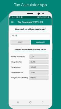 Income Tax Calculator Pakistan 2019-20 screenshot 1