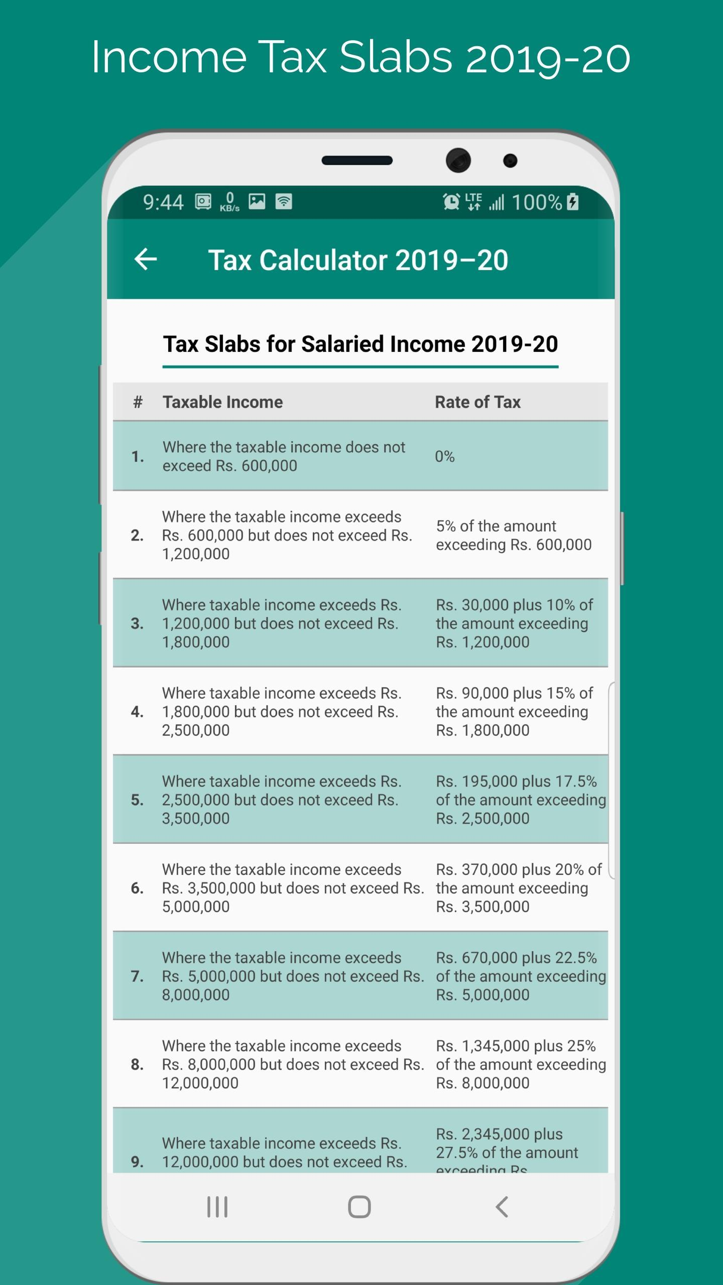 Income Tax Calculator Pakistan 2019-20 for Android - APK Download