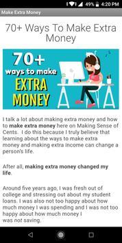 55 Ideas to Make Extra Money poster