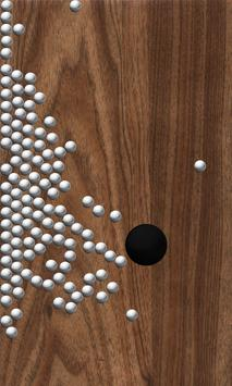 Roll Balls into a hole poster