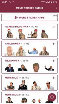 Ricardo Milos Meme Stickers - WAStickerApps captura de pantalla 1