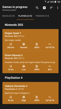 Game Backlog スクリーンショット 1