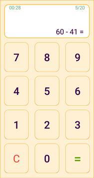 Mental arithmetic. Math kids games screenshot 1