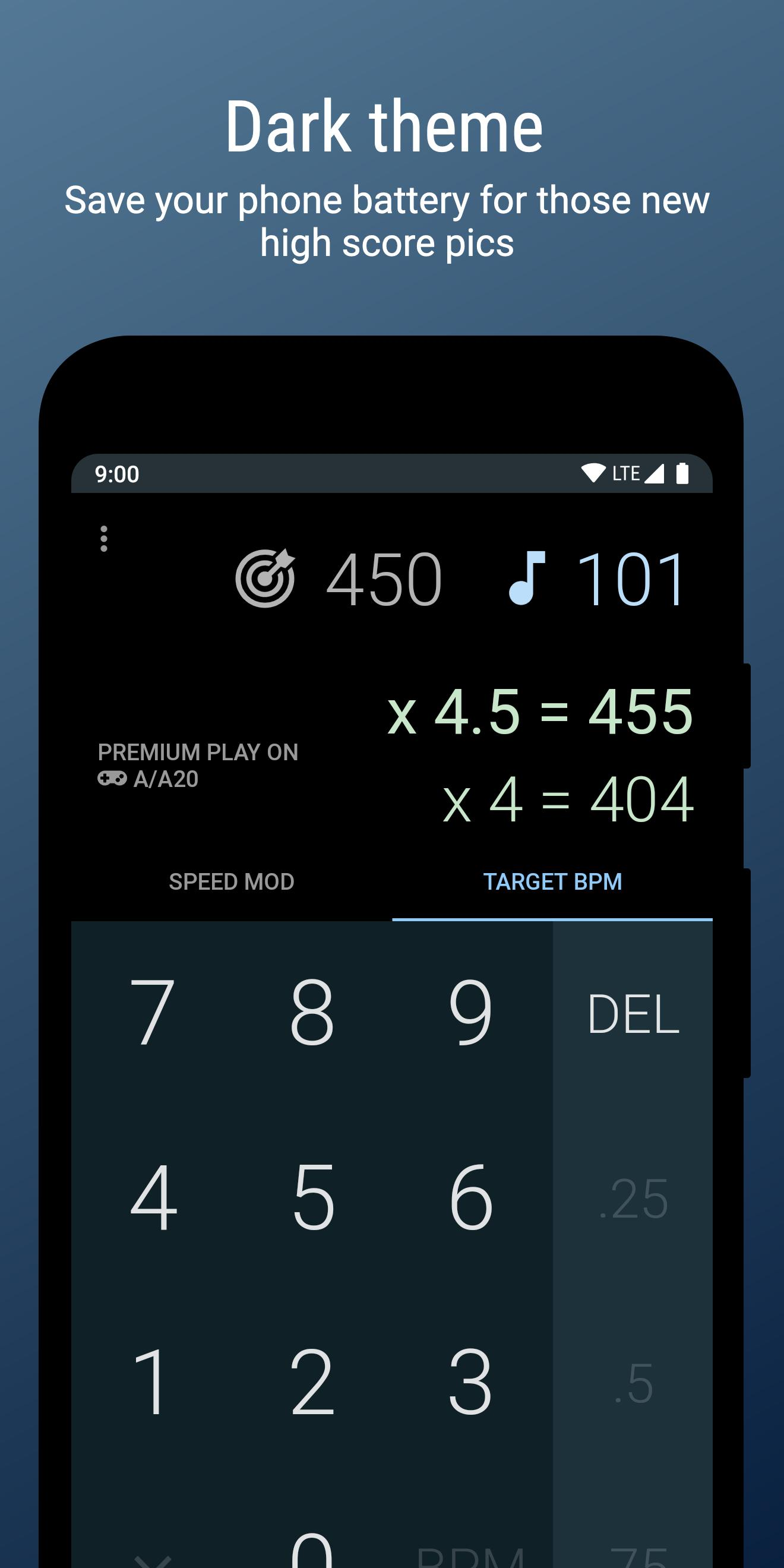 DDR Calc - Speed Mod & Target BPM Calculator for Android