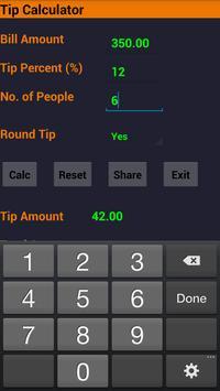 Tip calculator poster
