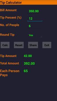 Tip calculator screenshot 1