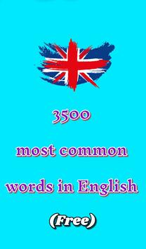 3500 words in English (Free) poster