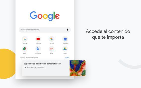 Google Chrome: rápido y seguro Poster