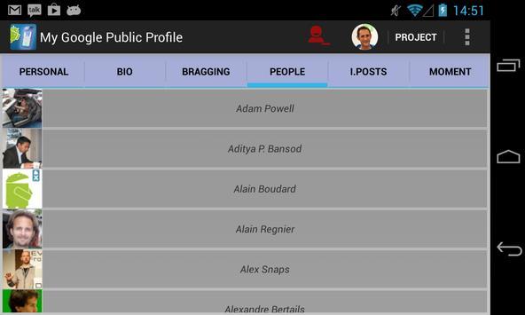 My Google Public Profile screenshot 1