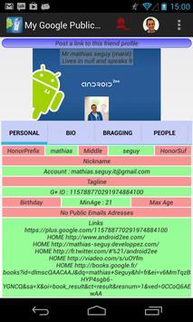 My Google Public Profile screenshot 2