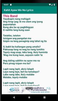 Kahit Ayaw Mo Na Lyrics poster