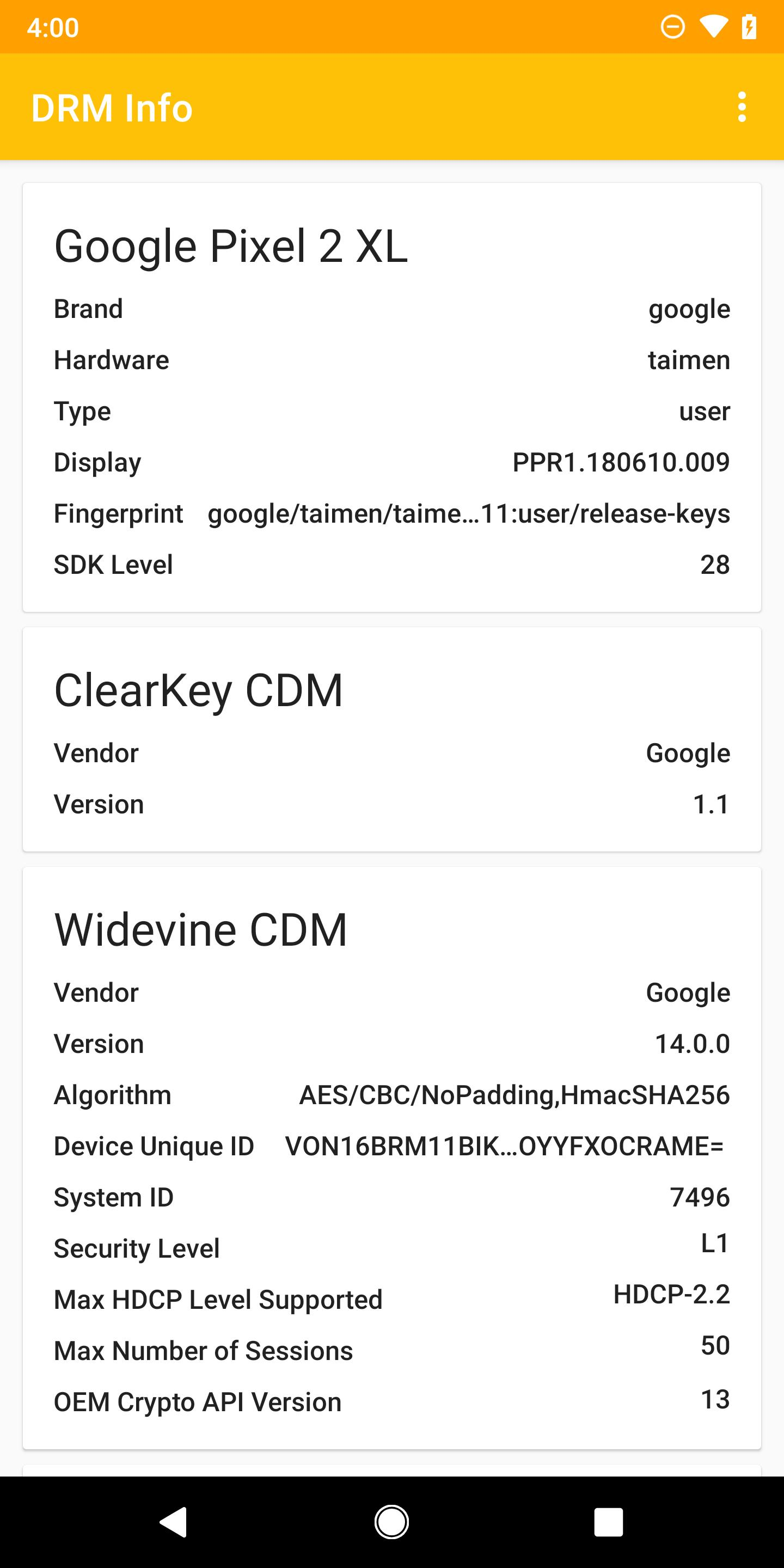 DRM Info for Android - APK Download