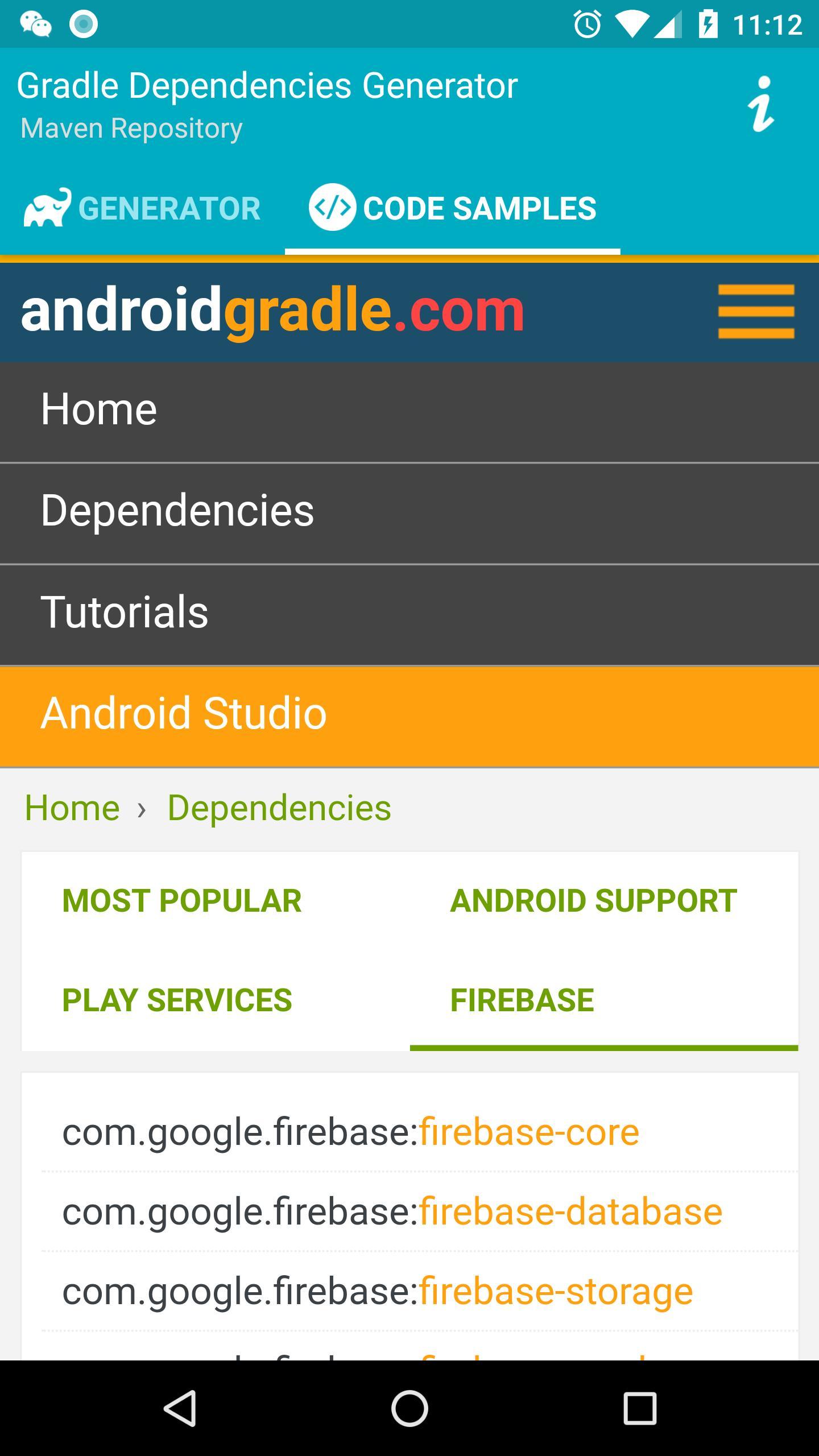 Gradle Dependencies Generator for Android - APK Download