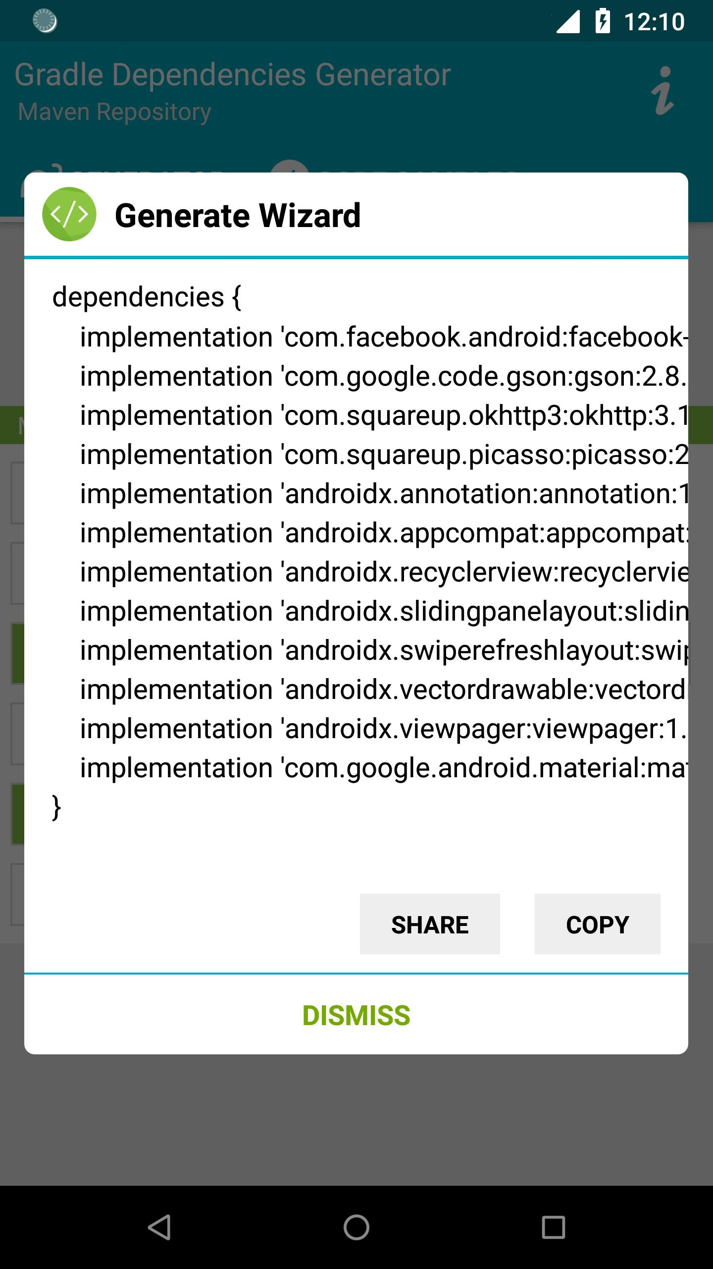 Gradle Dependencies Generator for Android - APK Download