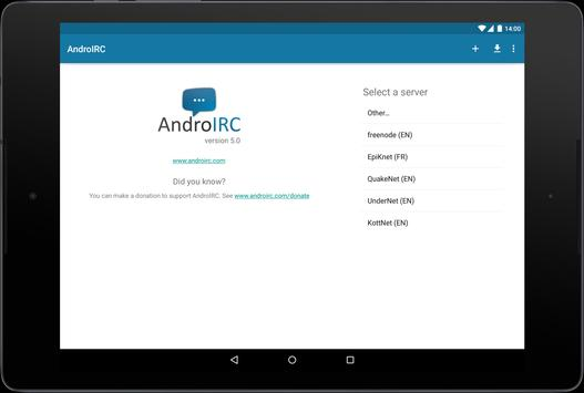 AndroIRC screenshot 7