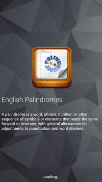English Palindromes poster