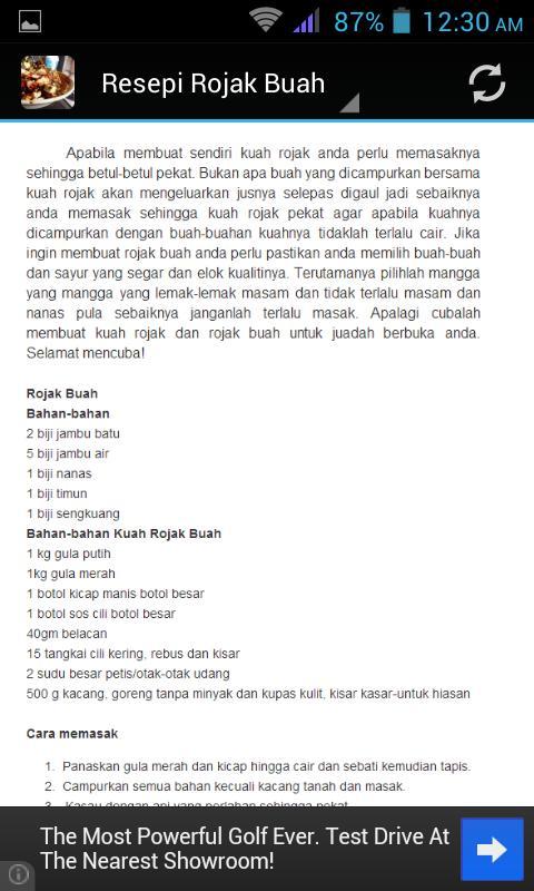 Resepi Rojak Buah For Android Apk Download
