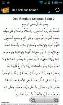 Doa Selepas Solat poster