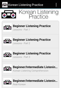 Korean Listening Practice poster