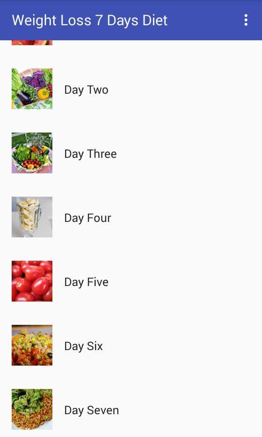 7 day diet plan