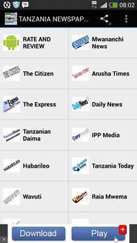 TANZANIA NEWSPAPERS poster