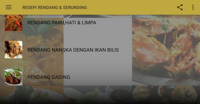 RESEPI RENDANG & SERUNDING screenshot 4