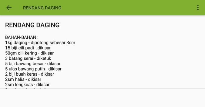RESEPI RENDANG & SERUNDING screenshot 5