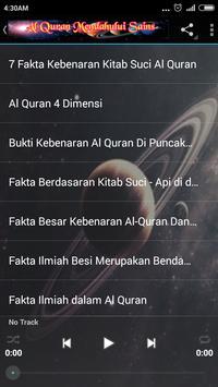 Al Quran VS Fakta Sains {MP3} screenshot 18
