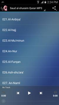 Saud al-shuraim Quran MP3 screenshot 1