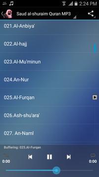 Saud al-shuraim Quran MP3 screenshot 5