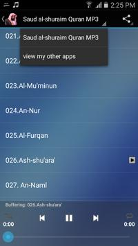 Saud al-shuraim Quran MP3 screenshot 6