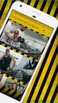Beginner workout - Your First Month Gym Program скриншот 1