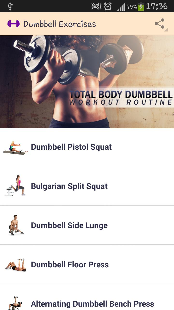 Dumbbell Exercises for Android - APK Download