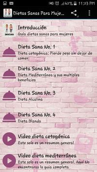 Dietas sanas para mujeres ảnh chụp màn hình 1