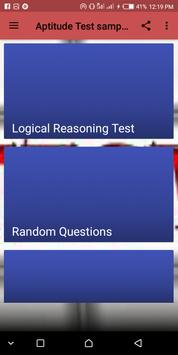 Aptitude Test sample FAQ screenshot 1