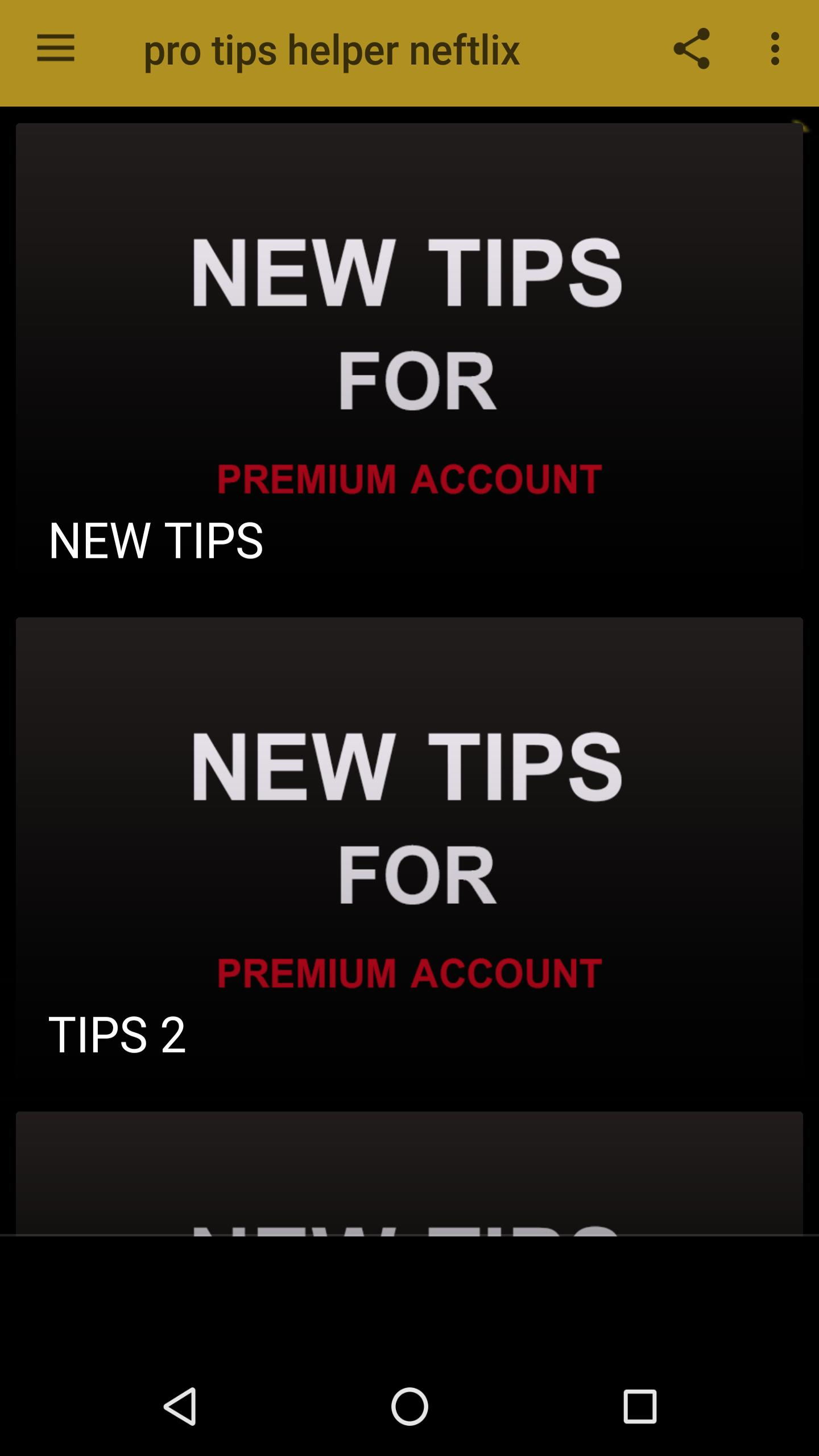 pro tips free netflix premium accounts 2019 for Android