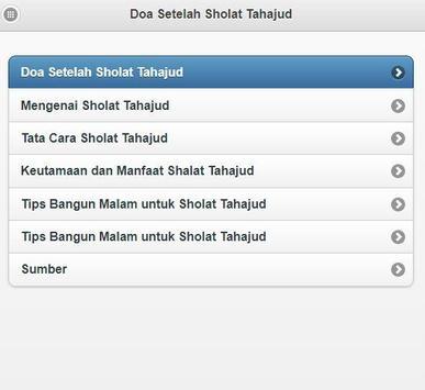 Doa Setelah Sholat Tahajud screenshot 1