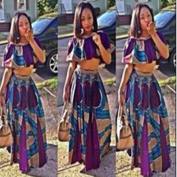 African Style Top & Long Skirt screenshot 3