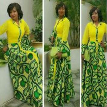 African Style Top & Long Skirt poster