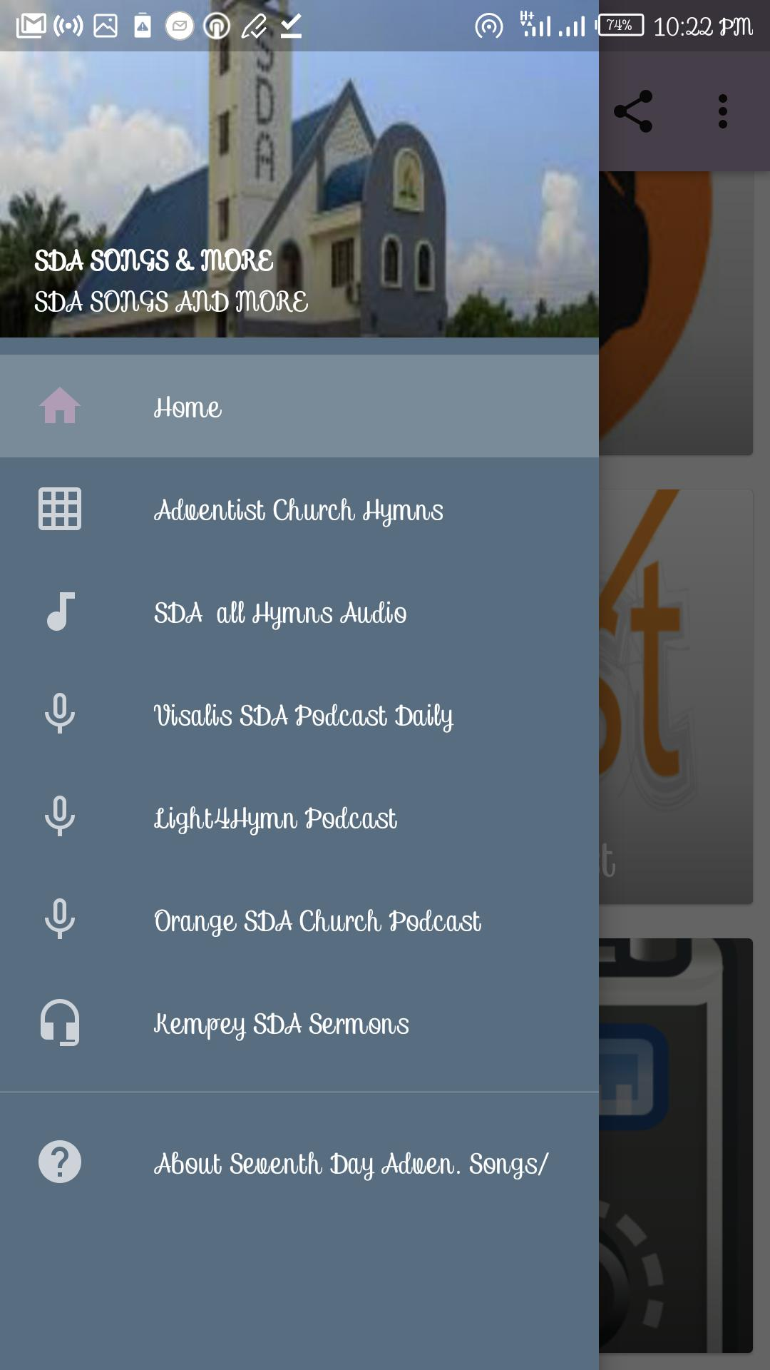 SDA (Seventh Day Adventist) Audio Hymns, Podcasts for Android - APK