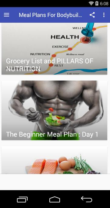 Meal Plans For Bodybuilders for Android - APK Download