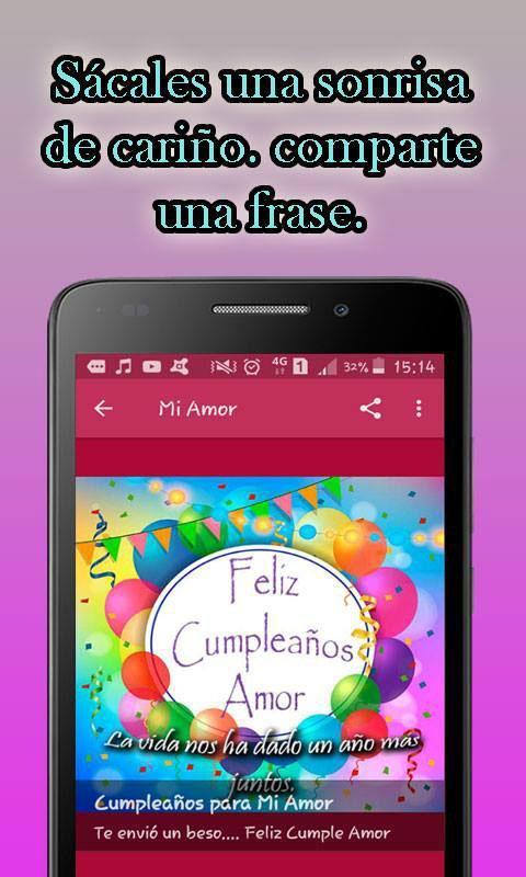 Frases Bonitas De Feliz Cumpleaños для андроид скачать Apk