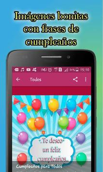 Frases Bonitas de Feliz Cumpleaños screenshot 3